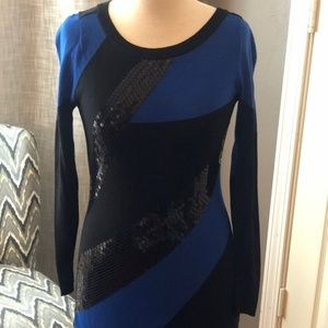 INC International Concept Blue & Black Color Block